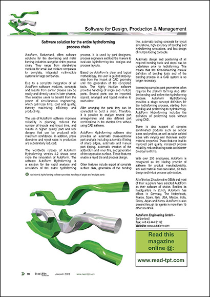 Software solution for the entire hydroforming process chain (PDF 108 KB)