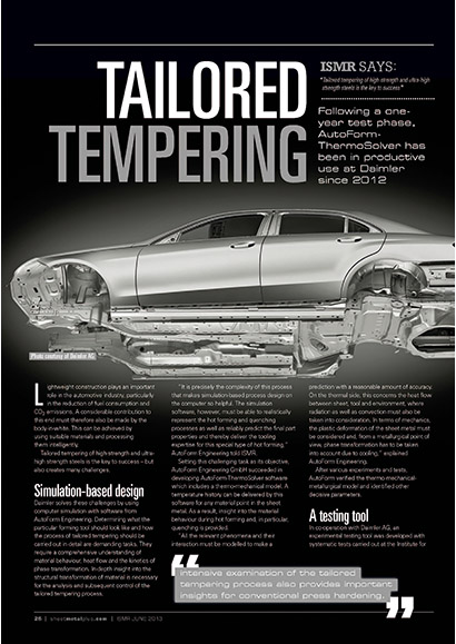 Tailored Tempering