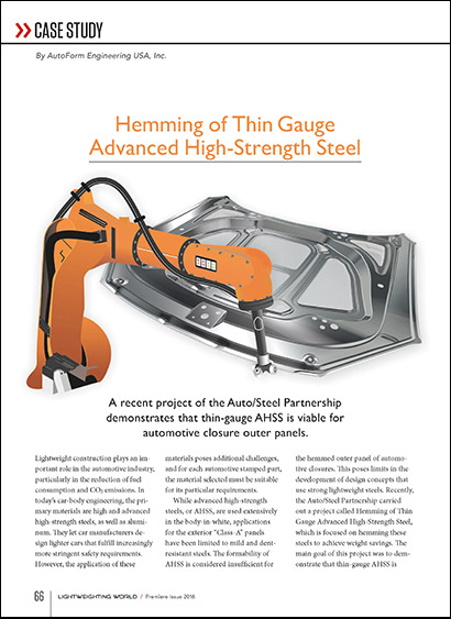 Hemming of Thin Gauge Advanced High-Strength Steel (PDF 2 MB)