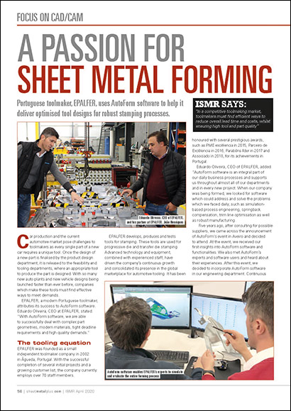 A Passion for Sheet Metal Forming (PDF 862 KB)